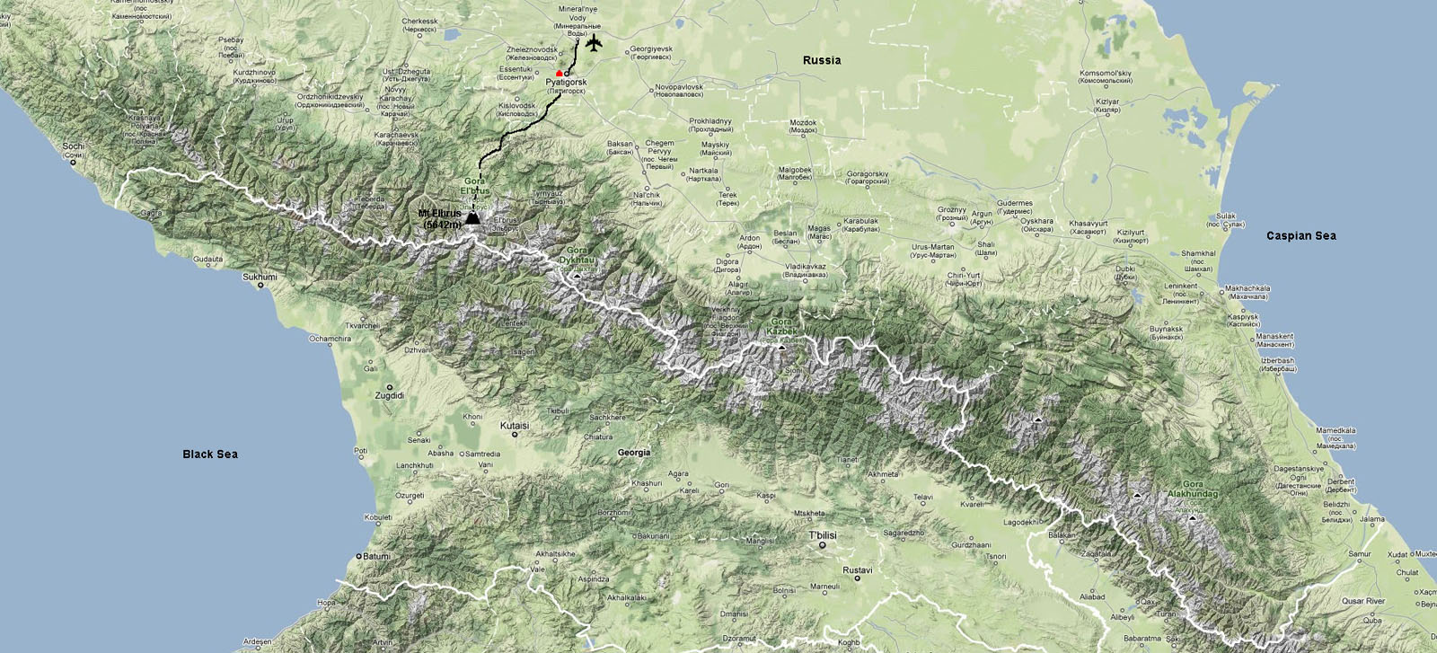 Ashley Burke Mt Elbrus - Mt elbrus map