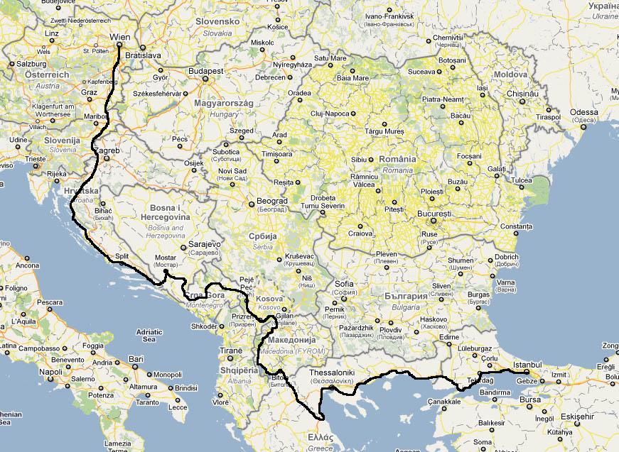 Balkans Cycle Tour Vienna to Istanbul 2011
